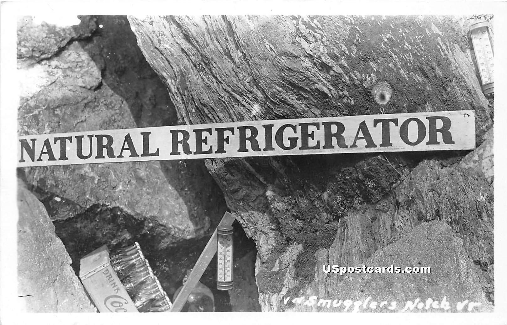 Natural Refrigerator - Smugglers Notch, Vermont VT Postcard