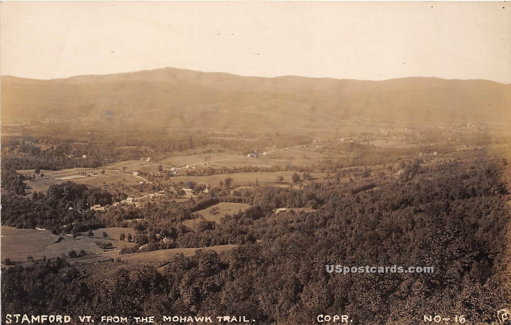 Mohawk Trail - Stamford, Vermont VT Postcard