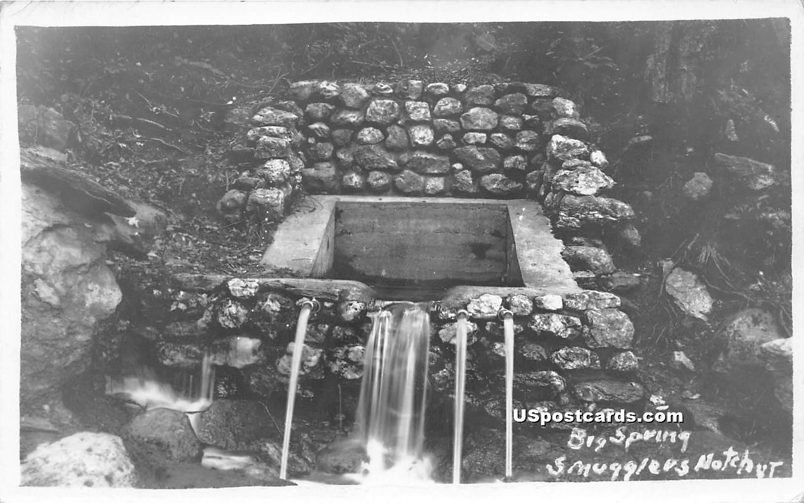 Big Spring - Smugglers Notch, Vermont VT Postcard