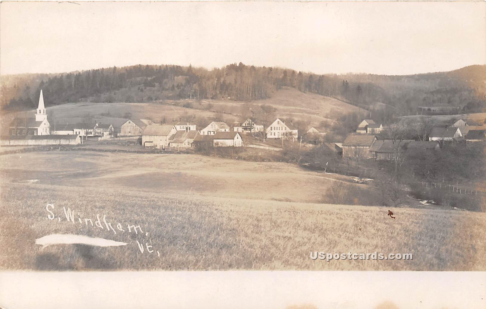 Birdseye View - South Windham, Vermont VT Postcard