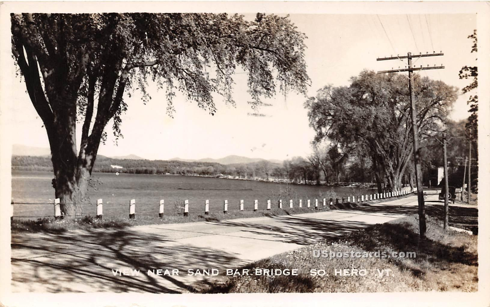 Sand Bar Bridge - South Hero, Vermont VT Postcard