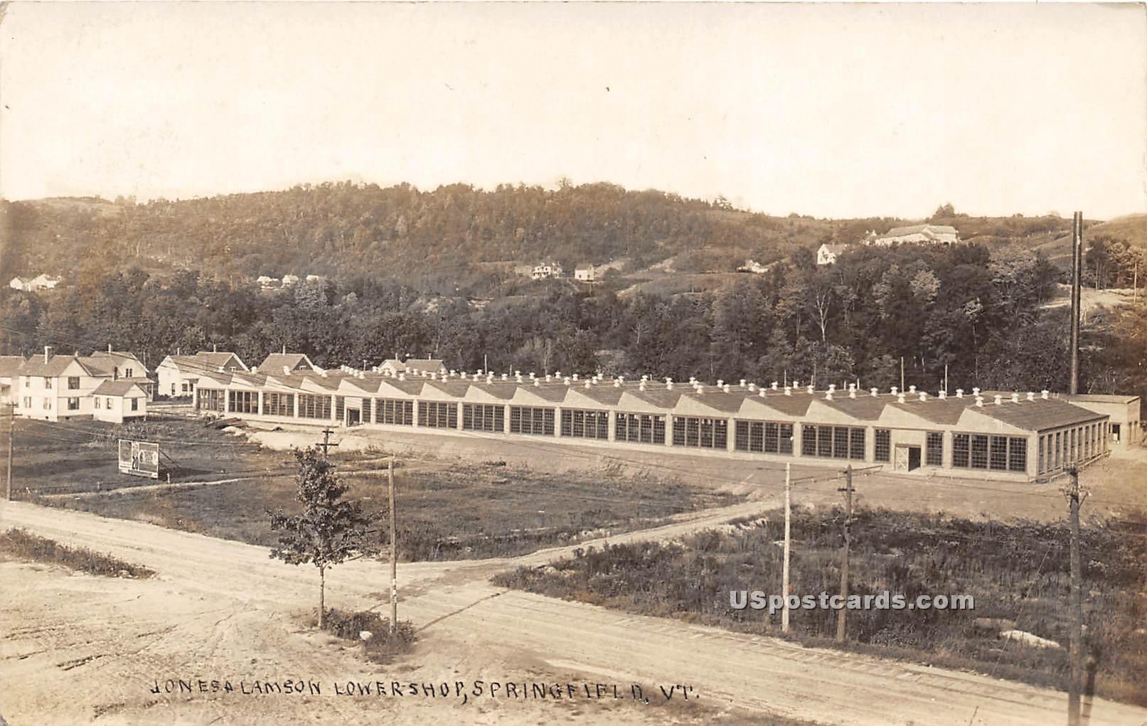 Jones A Lamson Lower Shop - Springfield, Vermont VT Postcard