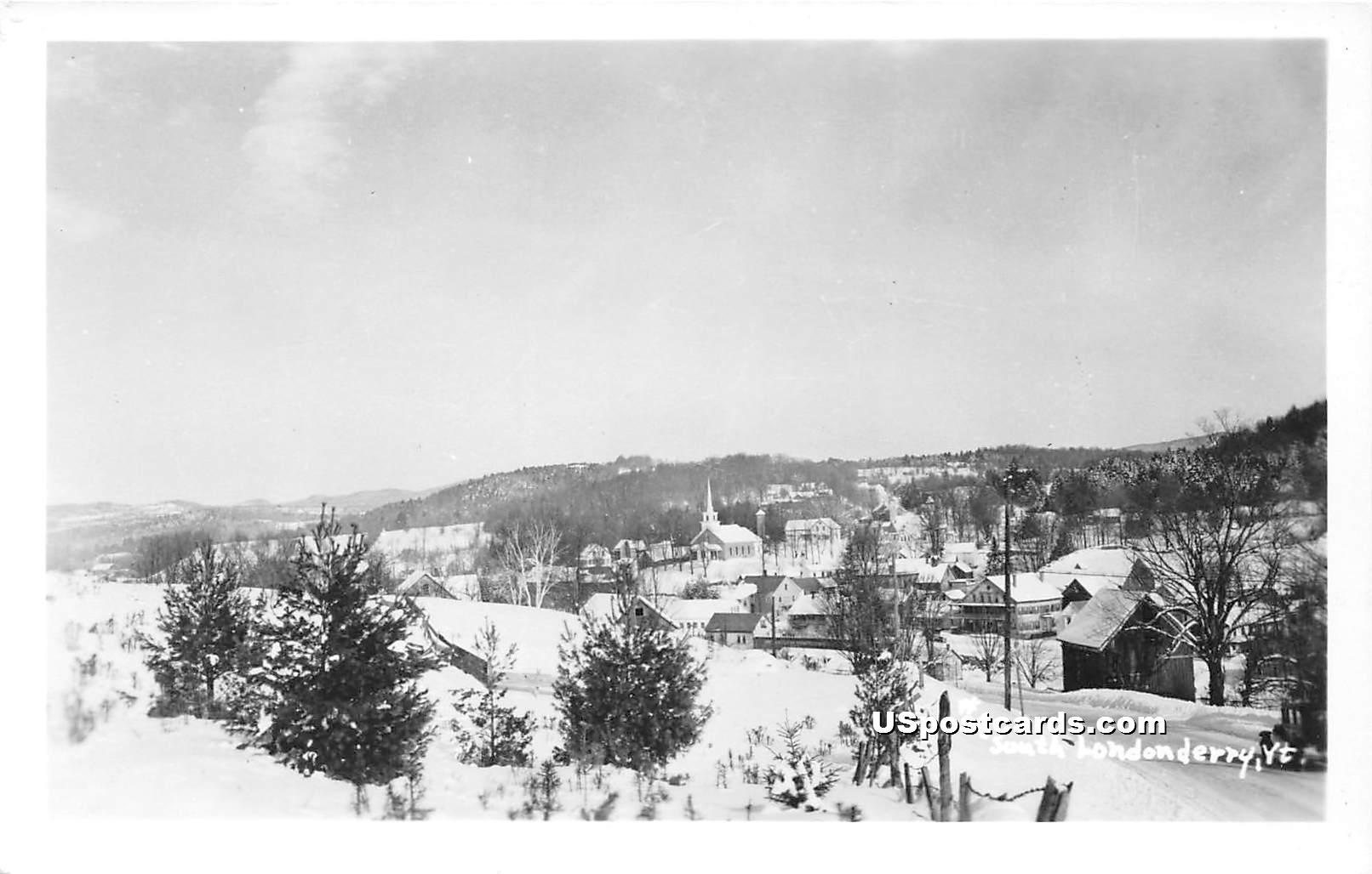 Birdseye View - South Londonderry, Vermont VT Postcard