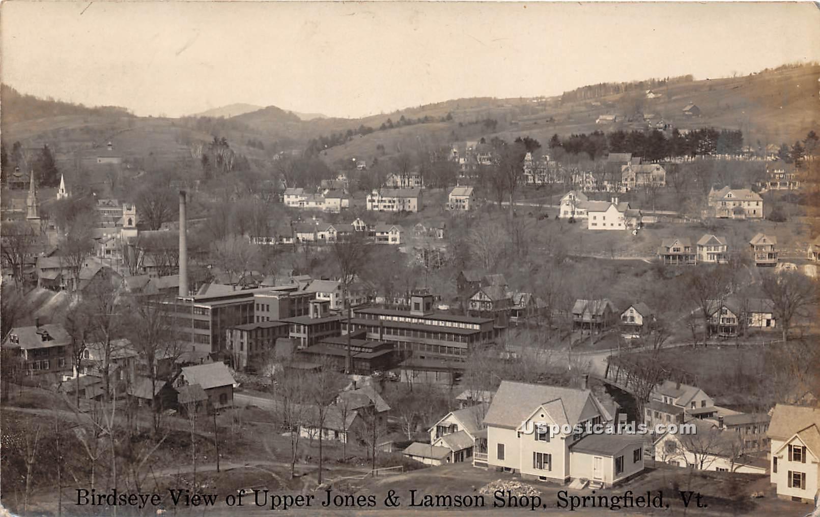 Upper Jones & Lamson Shop - Springfield, Vermont VT Postcard