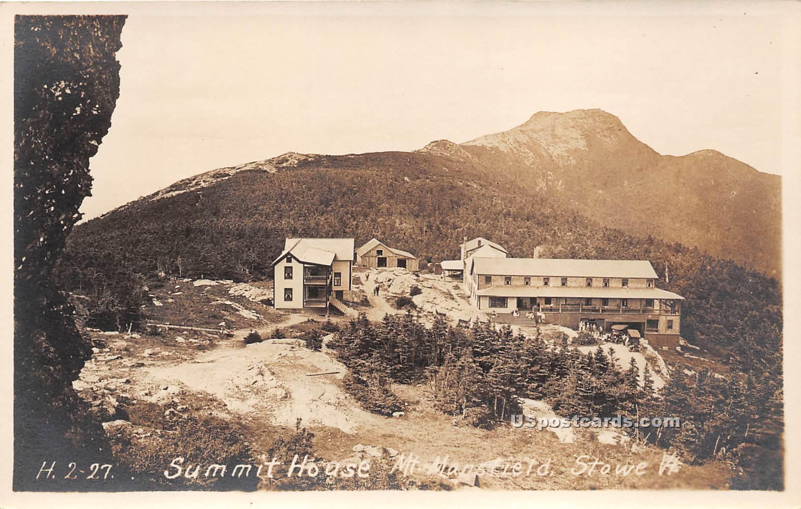 Summit House - Stowe, Vermont VT Postcard