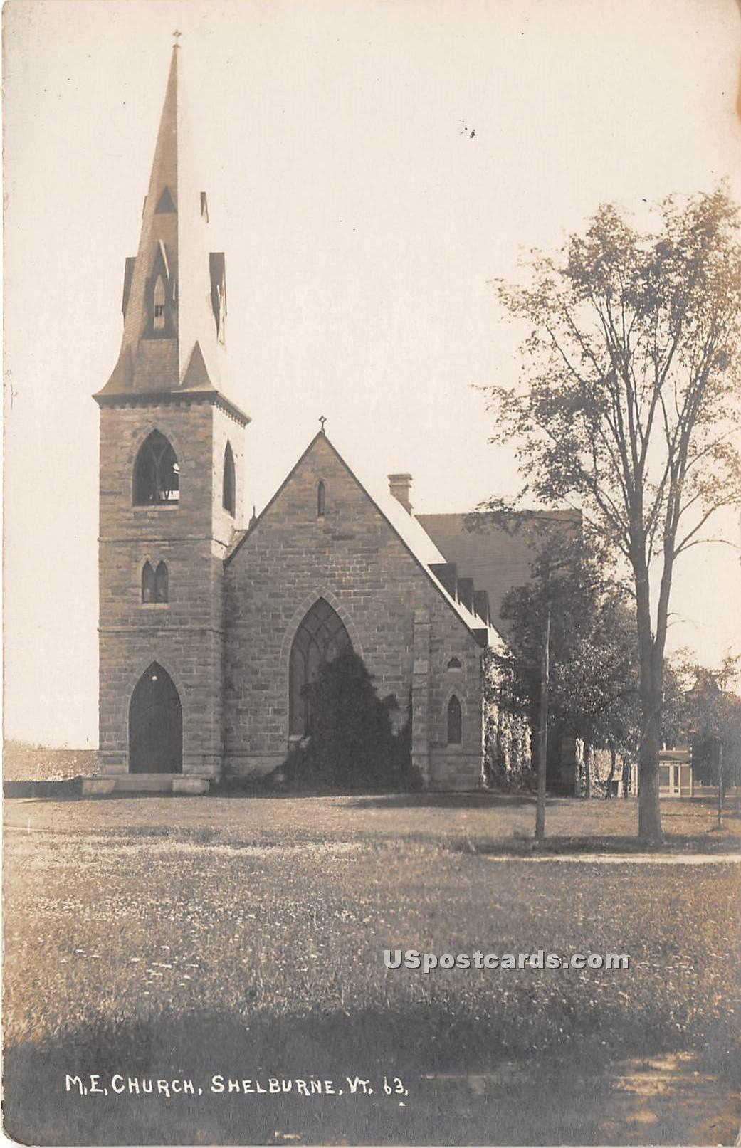 ME Church - Shelburne, Vermont VT Postcard