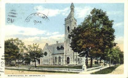 North Church - St Johnsbury, Vermont VT Postcard