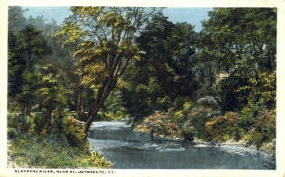 Sleepers River - St Johnsbury, Vermont VT Postcard