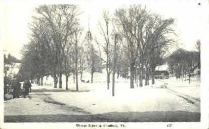 Winter - Strafford, Vermont VT Postcard