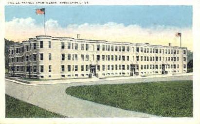 The La France Apartments - Springfield, Vermont VT Postcard