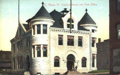 Custom House - St Albans, Vermont VT Postcard