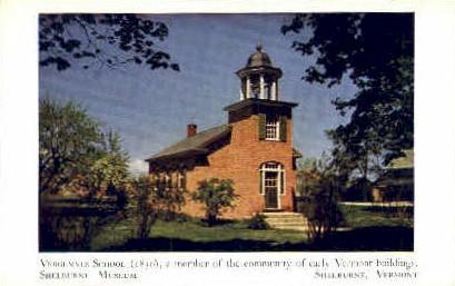 Vergennes School - Shelburne, Vermont VT Postcard