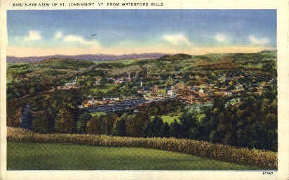 Waterford Hills - St Johnsbury, Vermont VT Postcard