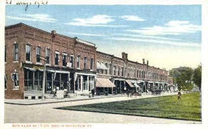 Business Section - Royalton, Vermont VT Postcard