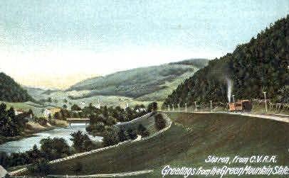 C. V. R. R. - Sharon, Vermont VT Postcard