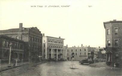 Main Street - St Johnsbury, Vermont VT Postcard