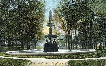 Fountain - St Albans, Vermont VT Postcard