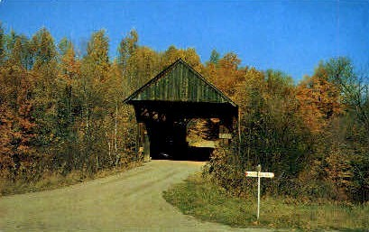 Covered Bridge - Stowe, Vermont VT Postcard