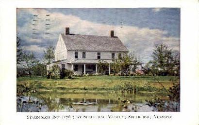 Stagecoach Inn - Shelburne, Vermont VT Postcard