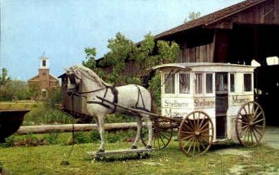 Milk Wagon - Shelburne, Vermont VT Postcard