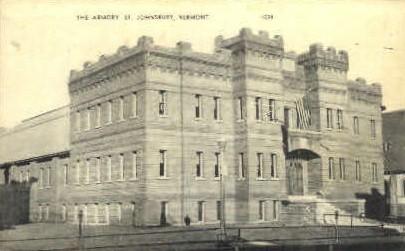 Armory - St Johnsbury, Vermont VT Postcard