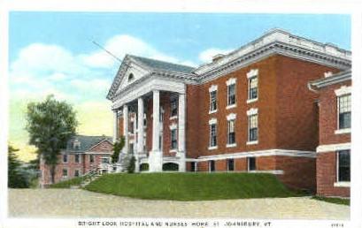Brightlook Hospital - St Johnsbury, Vermont VT Postcard