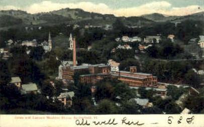 Jones & Lamson Machine Shops - Springfield, Vermont VT Postcard