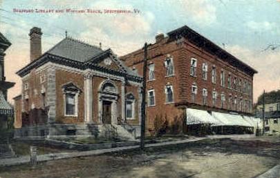 Spafford Library - Springfield, Vermont VT Postcard
