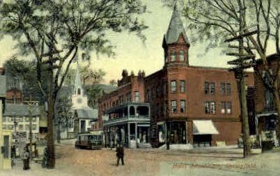 Hotel Adnabrown - Springfield, Vermont VT Postcard
