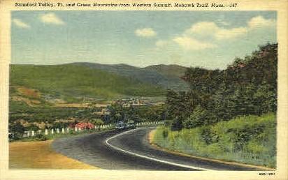Green Mountains - Stamford Valley, Vermont VT Postcard