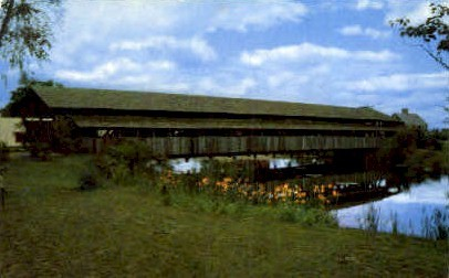 Covered Bridge - Shelburne, Vermont VT Postcard