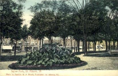 Taylor Park - St Albans, Vermont VT Postcard
