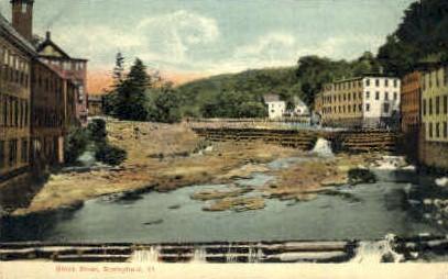 Black River - Springfield, Vermont VT Postcard