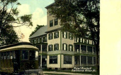 Hotel Kimball - Saxtons River, Vermont VT Postcard