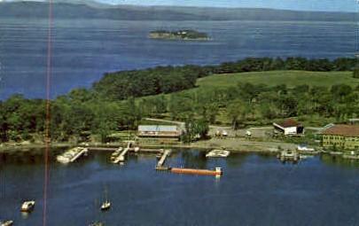 Shelburne Shipyard - Vermont VT Postcard