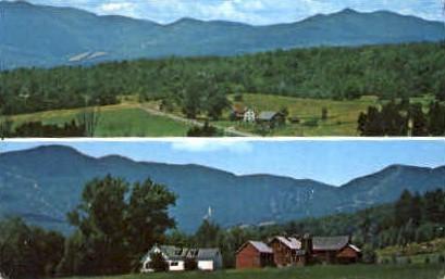 Farms - Stowe, Vermont VT Postcard