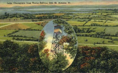 Lake Champlain - St Albans, Vermont VT Postcard