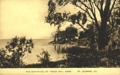 Kamp Kill Kare - St Albans, Vermont VT Postcard