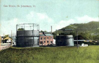 Gas Works - St Johnsbury, Vermont VT Postcard