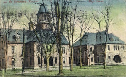 High School - St Johnsbury, Vermont VT Postcard