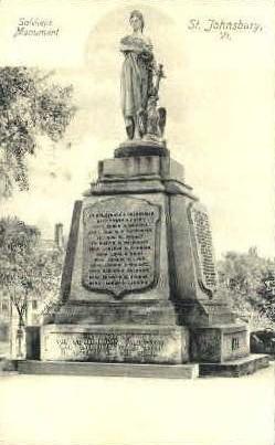 Soldiers Monument - St Johnsbury, Vermont VT Postcard