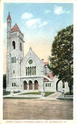 Congregational Church - St Johnsbury, Vermont VT Postcard