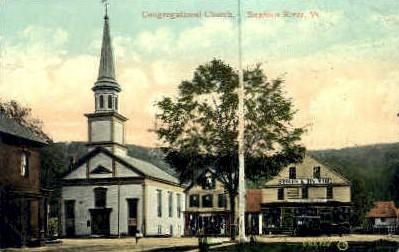Congregational Church - Saxtons River, Vermont VT Postcard