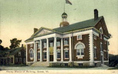 Akeley Memorial Building - Stowe, Vermont VT Postcard