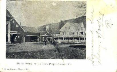 Sharon House - Vermont VT Postcard