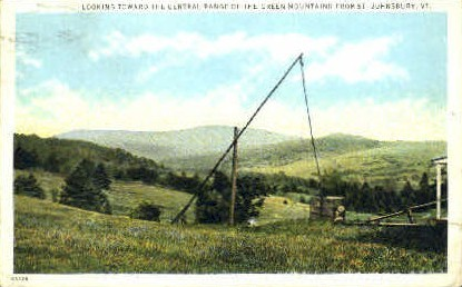 Green Mountains - St Johnsbury, Vermont VT Postcard