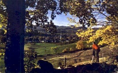 Village  - Stowe, Vermont VT Postcard