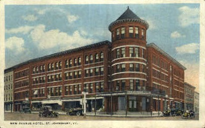 New Avenue Hotel - St Johnsbury, Vermont VT Postcard