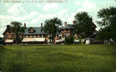 Dr. W. S. Webb Residence - Shelburne, Vermont VT Postcard