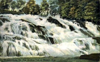 Fish Hatchery Falls - St Johnsbury, Vermont VT Postcard